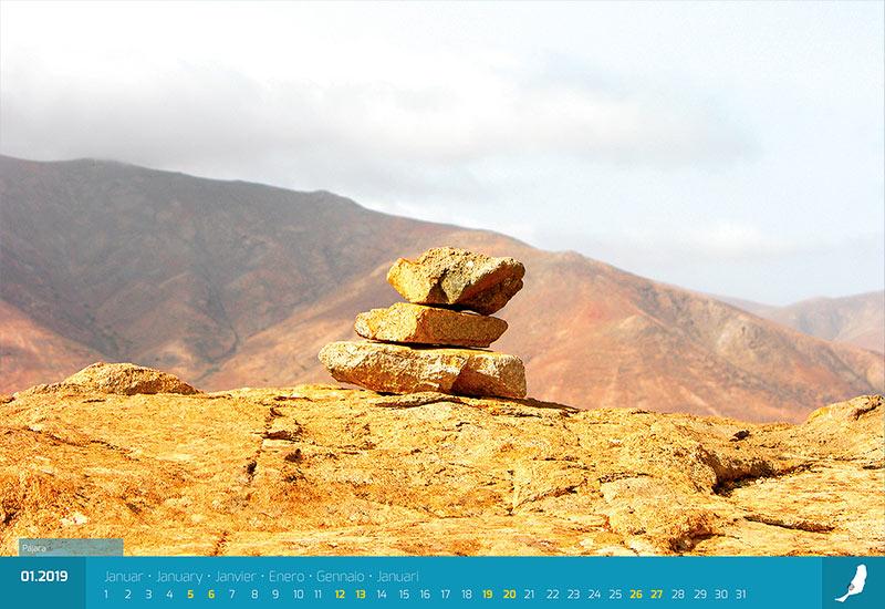 fuerteventura fotokalender steine berge sand und meer