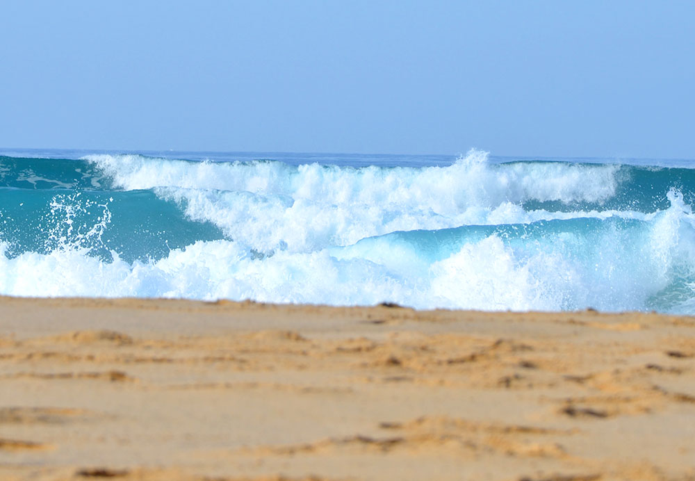 gefährliche brandung westküste fuerteventura strand von cofete