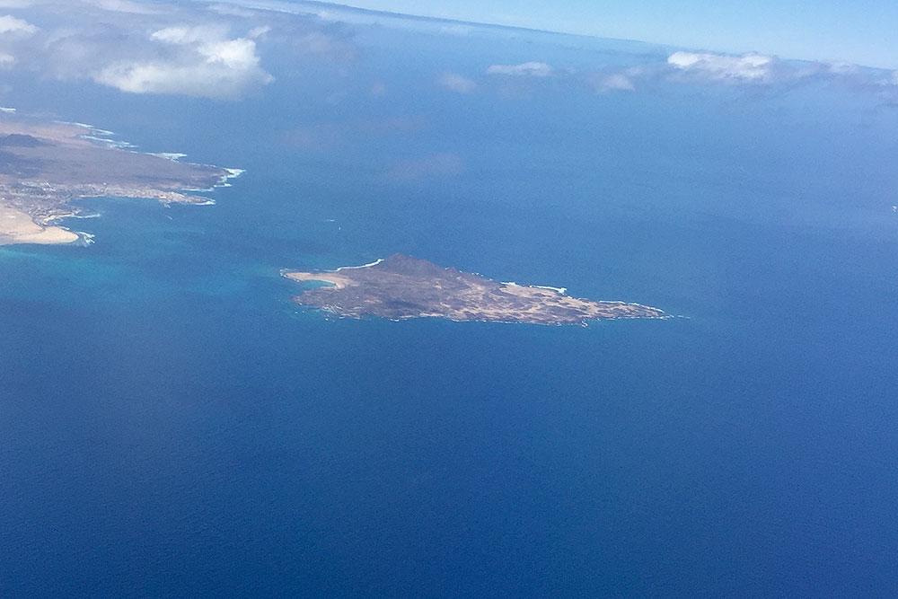 Los Lobos Nordküste Fuerteventura aus der Luft