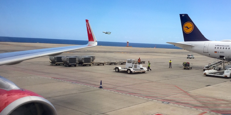 airberlin und lufthansa auf fuerteventura